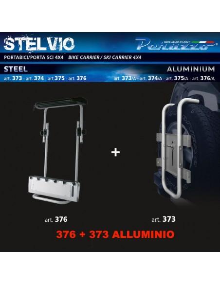 14112 - PERUZZO PORTASCI 4X4 AUTO STELVIO 373 + 376 ALLUMINIO