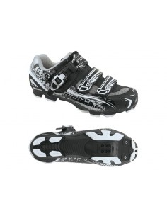 13534 - FORCE SCARPE MTB BIKE BLACK HARD CRICCHETTO + 2 STRAP