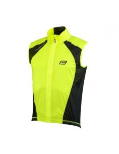 Gilet antivento ciclismo FORCE V53 fluo