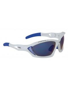 14176 - FORCE OCCHIALI BICI MAX  con CUSTODIE 90980 WHITE BLUE