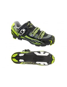 13535 - FORCE SCARPE MTB BIKE FLUO HARD CRICCHETTO + 2 STRAP