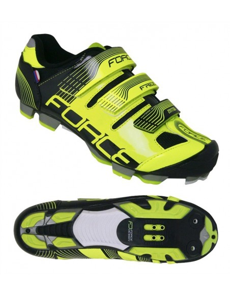 13215  SCARPE FORCE MTB MOUNTAIN BIKE FREE FLUO SPD 3 STRAP