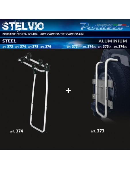 Portabici posteriore per 4x4 PERUZZO Stelvio in alluminio 4X4 art. 373 + art. 374/A