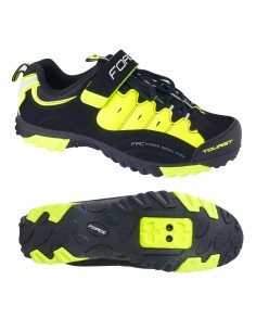 Scarpe MTB FORCE Tourist nero fluo