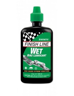 Olio per catena Finish Line sintetico 60 ml WET